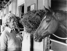 Penny Chenery Tweedy with Secretariat (Big Red).
