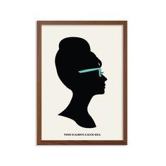 Petit déjeuner chez TIFFANY   Paris est toujours un bonne idée Poster : Holly Golightly moderne Illustration film série rétro Art Wall Decor