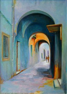 Watercolor Wallpaper, Watercolor Art, Art Is Dead, Middle Eastern Art, Building Painting, Van Gogh Art, Arabic Art, Naive Art, Portrait Art