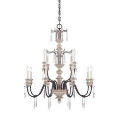 Check out the Savoy House 1-4342-12-192 Madeliane 12 Light Chandelier in Wood and Iron priced at $1,174.00 at Homeclick.com.