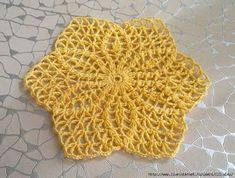 Vestido em Crochê Amarelo com Gráficos - Katia Ribeiro Crochê Moda e Decoração Handmade