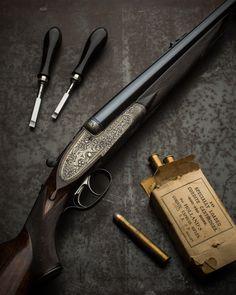 Holland & Holland Royal .500/450 double rifle Weapons Guns, Guns And Ammo, Bolt Action Rifle, Gun Art, Double Barrel, Fire Powers, Bushcraft, Hunting Rifles, Firearms