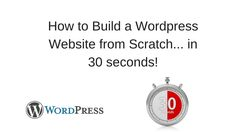 Need a website? Seriously this will show you how to build a website from scratch in 30 seconds or less!   http://smallonlinebusinessopportunity.com/how-to-create-a-free-website-to-earn-money/