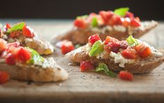 Strawberry and Goat Cheese Bruschetta #HealthyLifestyle #CleanEating #ShaysHealthyLifestyle