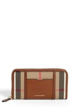 Burberry 'House Check - Large' Zip Around Wallet | Nordstrom