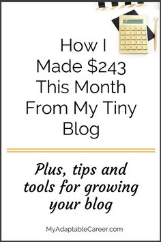 Blog income report: how I made $243 and why I reinvested it all in my biz