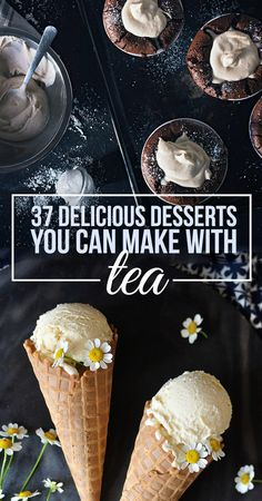 37 Tea Desserts That Are Almost Too Pretty To Eat 37 Delicious Desserts You Can Make With Tea Yummy Recipes, Tea Recipes, Dessert Recipes, Cooking Recipes, Picnic Recipes, Cooking Tips, Just Desserts, Delicious Desserts, Yummy Food