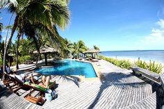 Relaxing poolside on Tavarua Island, Fiji.  #Fiji #Pool #Tavarua