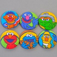 5ff49758317 F-1330 Sesame Street Buttons (Set of 6)