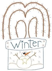 Winter Snowman Willow Pot Sampler- 5x7 | Winter | Machine Embroidery Designs | SWAKembroidery.com Homeberries Designs