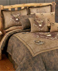 Marshfield Whitetail Ridge Deer Comforter Set & Sheets Bed in a Bag 8 Pc King Full Comforter Sets, Queen Bedding Sets, Luxury Bedding Sets, Bed Sets, King Comforter, Rustic Bedding Sets, Luxury Rooms, Deer Bedding, Cotton Bedding