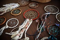 Covered in multi-colored textiles, the dreamcatcher represents the mind, body, spirit aspects of our personality, moods and emotions.