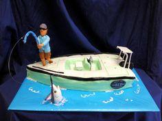 Fishing Boat Cake On The Rough Seas My Cakes Pinterest Boat - Fishing boat birthday cake