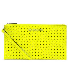 MICHAEL Michael Kors Handbag, Jet Set Travel Perforated Zip Clutch - Clutches & Evening Bags - Handbags & Accessories - Macy's