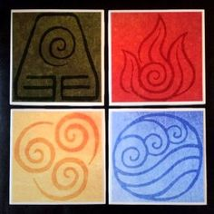 Avatar Elements Coasters Shut Up And Take My Yen : Anime & Gaming Merchandise