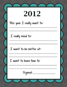 Kid-Friendly New Year's Resolution Printable and a Giveaway from My Memories - Uncommon Designs...