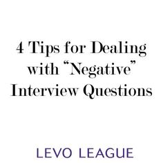 How to answer tough interview questions ~ Levo League