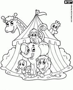 Clown Coloring Pages | the Circus coloring pages, In the Circus coloring book, In the Circus ...