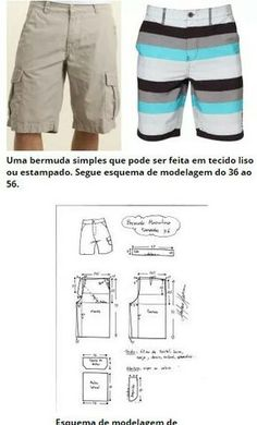 Male Bermuda shorts...<3 Deniz <3