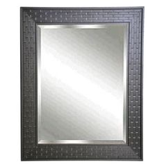 @Overstock - American-made Rayne Espresso Bricks Rectangular Wall Mirror - Boasting a beautifully textured brick-themed frame in a rich espresso brown finish, this eye-catching wall mirror will add depth to the room while providing a wealth of textural interest. Display horizontally or vertically for a versatile look.  http://www.overstock.com/Home-Garden/American-made-Rayne-Espresso-Bricks-Rectangular-Wall-Mirror/8893259/product.html?CID=214117 $210.99