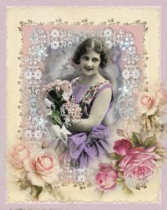 Digital collage sheet, vintage, instant download, Jewels 57, backgrounds, ready to frame, cards, tags, scrapbooking, journaling, vintage