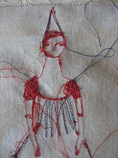 Detail, 'dreams' portrait by textile artist Cathy Cullis. via the artist on flickr