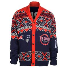 New England Patriots Ugly Cardigan Sweater Ugly Sweater, Sweater Cardigan, Sweaters, Patriots Football Team, Nfl Gear, Nfl Fans, New England Patriots, My Style, Jackets