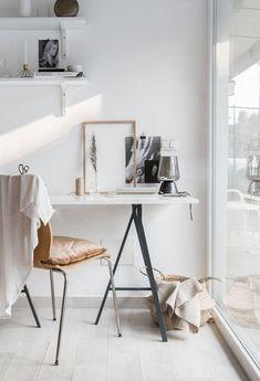 Simple And Effective Interior Home Design Solutions Home Office Space, Home Office Design, Home Office Decor, House Design, Home Interior, Interior Styling, Casa Rock, Deco Studio, Ideas Para Organizar