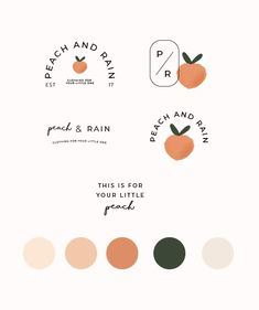 just peachy! logo designs and brand colors that are peach perfect Quick Pages Bo… just peachy! logo designs and brand colors that are peach perfect Quick Pages Bo…,logos just peachy! logo designs and brand. Brand Identity Design, Graphic Design Branding, Logo Branding, Brand Design, Brochure Design, Brand Logo Design, Artist Branding, Graphic Design Projects, Inspiration Logo Design