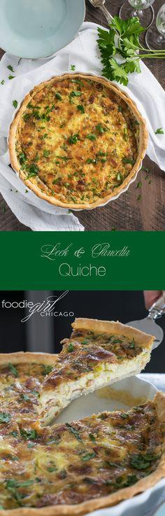 Leek & Pancetta Quiche
