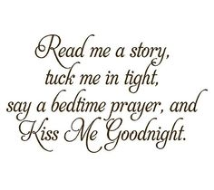 Read Me a Story Baby Nursery Vinyl Wall Decal - Nursery Poem Quote Saying Bedtime Prayer 22H x 36W BA0055. $45.00, via Etsy.