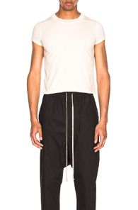 RICK OWENS RICK OWENS SHORT LEVEL TEE IN NEUTRALS. #rickowens #cloth # Rick Owens Men, Neutral, Short Sleeves, Slim, Mens Fashion, Tees, T Shirt, How To Wear, Cotton