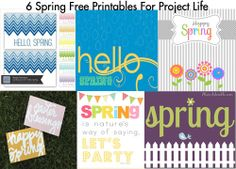 6 Spring Free Printables For Project Life