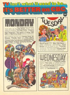 Fall Television, 1971 on the CBC