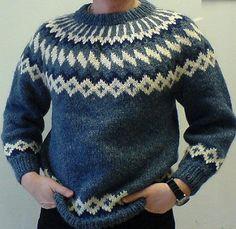 Mens Lopapeysa wool sweater Icelandic Sweaters, Wool Sweaters, Jumper, Men Sweater, Male Man, Bunt, Men's Knitwear, Crew Neck, Unisex