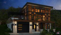© Maisons Laprise inc., 2016. All rights reserved / Tous droits réservés. Prefab Homes, Cabin Homes, Archi Design, Modern Contemporary Homes, Solar House, Cabin Fever, Cabin Ideas, Lofts, Plans