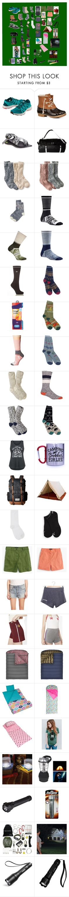 """""""Camping Items"""" by mikahelaine ❤ liked on Polyvore featuring Title Nine, Jack Rogers, Chaco, The North Face, L.L.Bean, Old Navy, Smartwool, Grabber, Pendleton and Woolrich"""