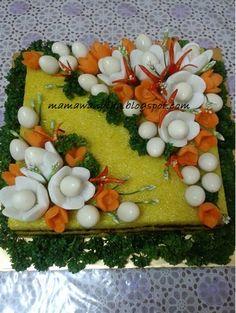 Vegetable Cake, Organic Packaging, Surprise Cake, Food Carving, Nasi Goreng, Food Garnishes, Glutinous Rice, Food Decoration, Rice Cakes