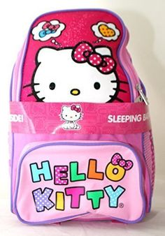 Hello Kitty 2 Piece Backpack with Sleeping Bag  2014 Design >>> This is an Amazon Affiliate link. Check out this great product.
