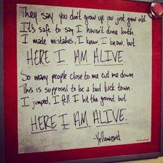 Here I am Alive- Yellowcard
