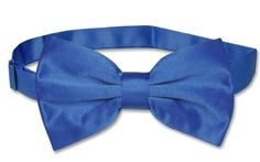 Vesuvio Napoli BOWTIE Solid ROYAL BLUE Color Men's Bow Tie for Tuxedo or Suit