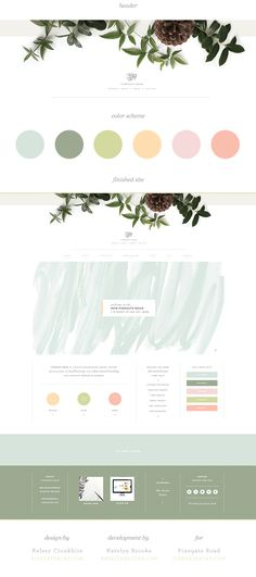 Branding-Design Pinegate Road website, designed by Kelsey Cronkhite with web development by Katelyn Design Websites, Site Web Design, Web Design Tutorial, Web Design Mobile, Design Ios, Blog Design, Banner Web Design, Layout Design, Web Layout