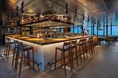 """Tasca and Netsu Restaurants at the Mandarin Oriental Jumeira, Dubai - dpa lighting consultants - """"Right Light, Right Place, Right Time"""" ™ #dpalighting #lightingdesign #restaurantlighting #barlighting #pendants #concealedlight #spotlights #tracklighting #displaylighting #downlights #undercounterlighting"""