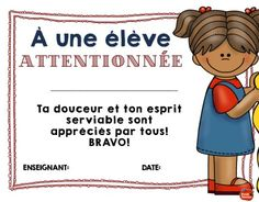 Bravo pour être attentionnée Classroom Management Techniques, Classroom Management Strategies, Class Management, French Conversation, Behavior Incentives, Future Classroom, Positive Attitude, Self Esteem, School Projects