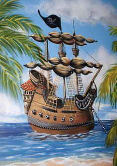 Pirate Wall Murals | Skywoods Decorative Painting Faux Finishing Murals  Phoenix AZ Part 32