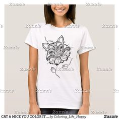 CAT & MICE YOU COLOR IT T-SHIRTS, HOODIES, TOPS Cat Mouse, Mice, Wardrobe Staples, Fitness Models, Hoodies, Female, Casual, Fabric, Sleeves