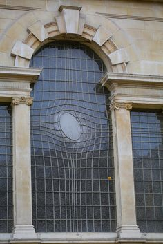 St. Martin's Window, Trafalgar Square ~ check out this window in St Martin In The Fields. It was designed by the Iranian artist Shirazeh Houshiary - who was inspired by the way water reflects and changes images, in collaboration with architect Pip Horne and unveiled in 2008.