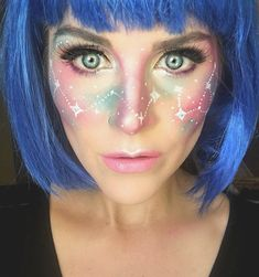 hell leicht galaxy make up zum selber machen You are in the right place about Lip Makeup fashion Here we offer you the most beautiful pictures about the Lip Makeup art Goth Makeup, Makeup Art, Makeup Tips, Galaxy Eyes, Pink Galaxy, Contour Makeup, Lip Makeup, Eyeshadow Makeup, Space Girl Kostüm