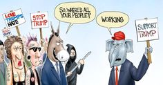 We've heard much talk about crowd size Left vs Right, that the left's crowd is larger. Could the reason be work ethic. Cartoon by A.F. Branco ©2017