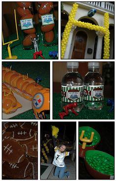 football theme - especially love the balloon goal post!